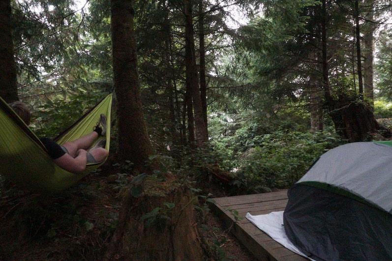 Unser Campingplatz, Green Point, in Ucluelet   wat-erleben