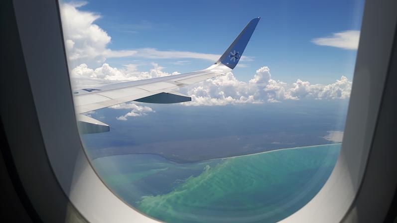 Blick aus dem Flugzeug über Mexiko | wat-erleben