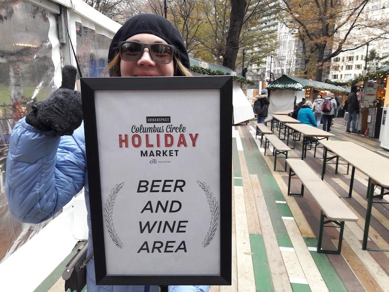 Das Schild zum Glück, Weihnachtsmarkt NYC | wat-erleben