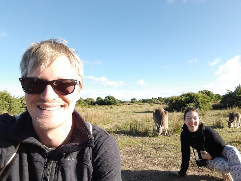 Das obligatorische Selfie mit Kängurus, Wilsons Promontory National Park | wat-erleben