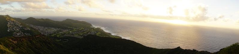 Die Aussicht von oben beim Koko Crater Railway Trail | wat-erleben