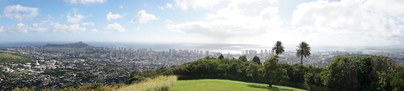 Honolulu von oben - beim Fahren des Tantalus Drives, O´ahu | wat-erleben