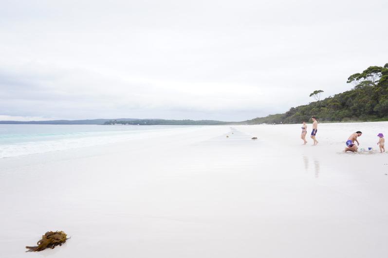 Überbelichtet, aber der weiße Sand sah so aus...Hyams Beach | wat-erleben