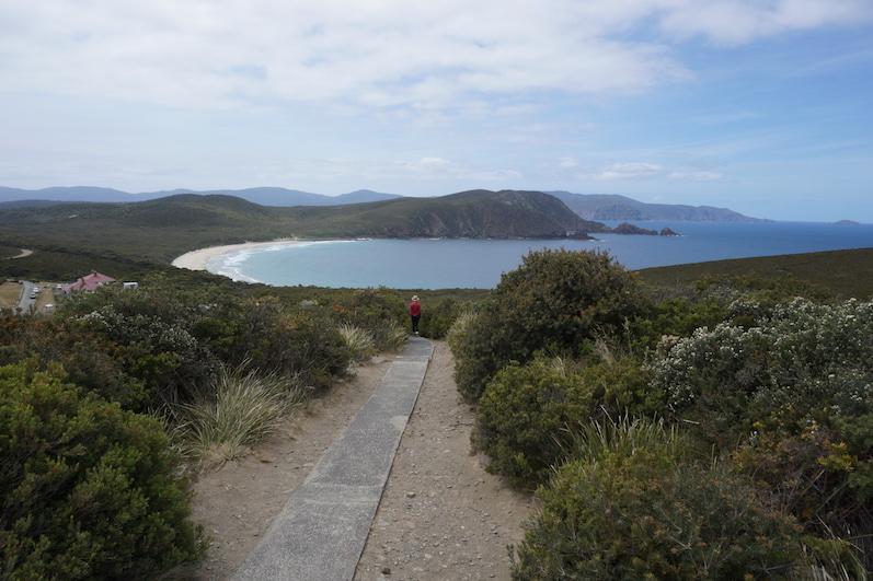 Cloudy Bay am Leuchtturm, Bruny Island, Tasmanien | wat-erleben