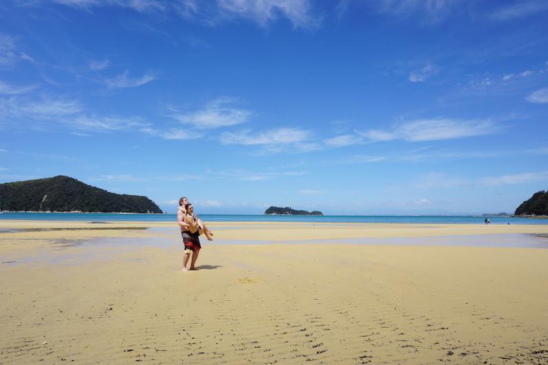 Auf halber Strecke mussten wir uns Abkühlen, Abel Tasman, Neuseeland |wat-erleben