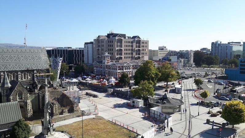 Vor dem Roadtrip schauten wir uns Christchurch an. Der Stadt ist auch 8 Jahre später das Erdbeben noch anzusehen | wat-erleben