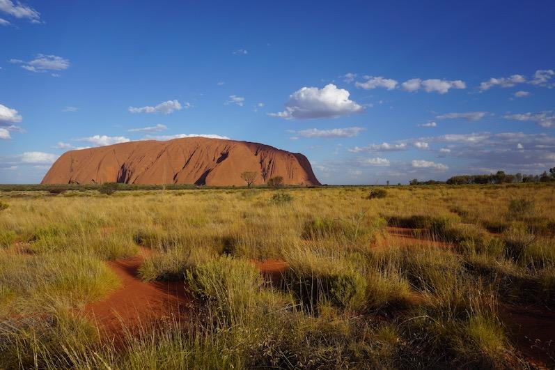 Der erste von drei Sonnenuntergängen, Uluru | wat-erleben