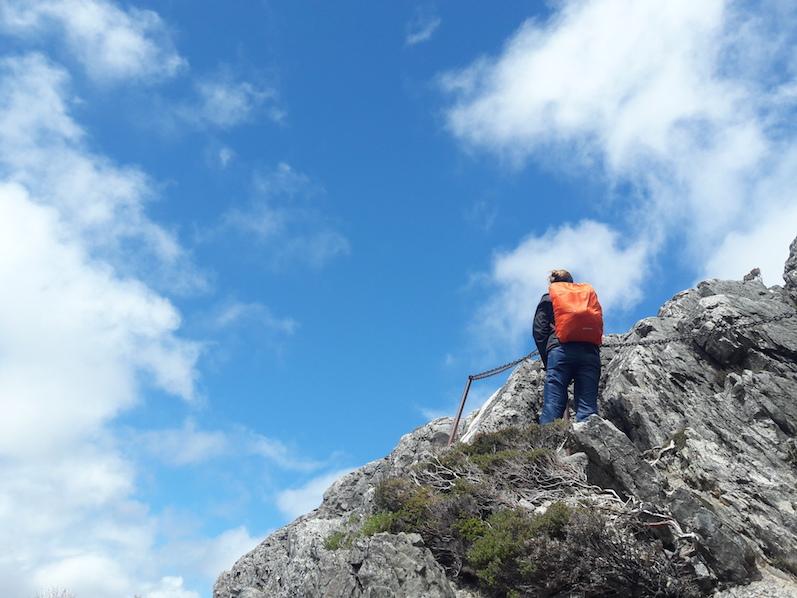 Es ging hoch hinaus, teilweise sogar mit Kette zum festhalten, Cradle Mountain, Tasmanien | wat-erleben