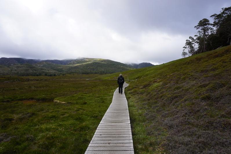 Leider sahen nur die ersten 10 Minuten vom Wanderweg so entspannt aus, Cradle Mountain, Tasmanien | wat-erleben