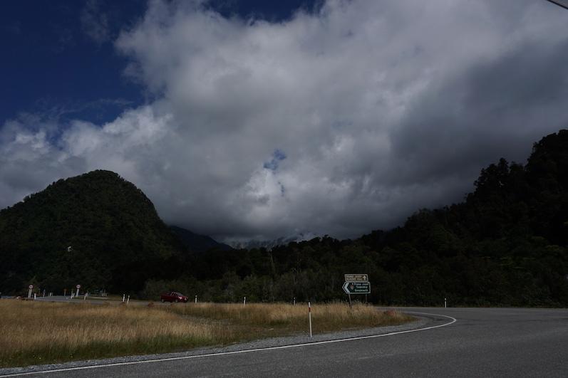 Minimal konnten wir die Gletscherzunge erahnen, Franz Josef Gletscher, Neuseeland | wat-erleben
