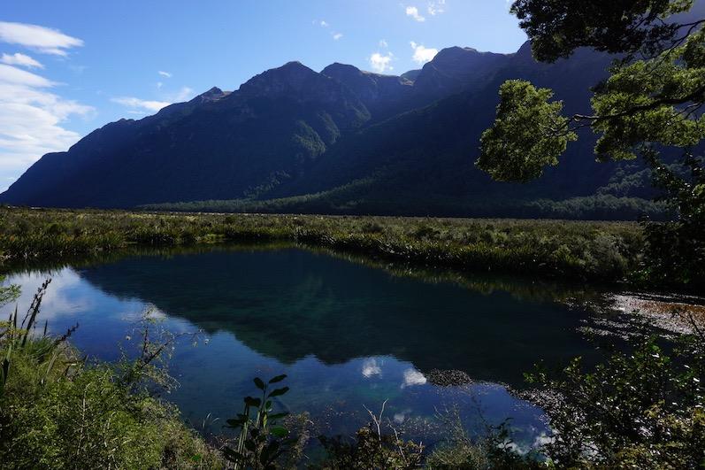 Mirror Lakes bei Milford Sound, Neuseeland | wat-erleben