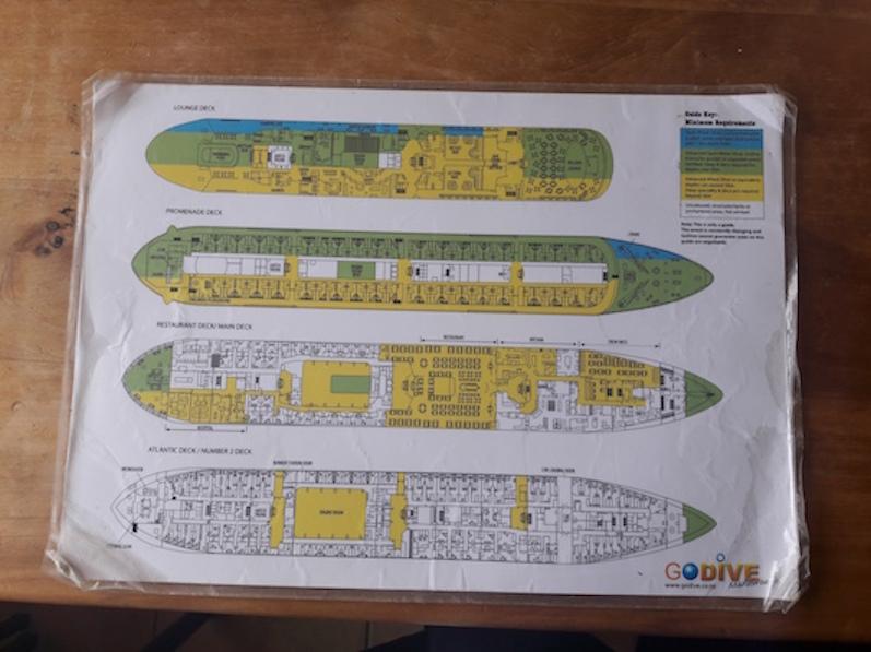 Wir erkundeten die oberen beiden Decks der Lermontov, Port Gore, Neuseeland |wat-erleben