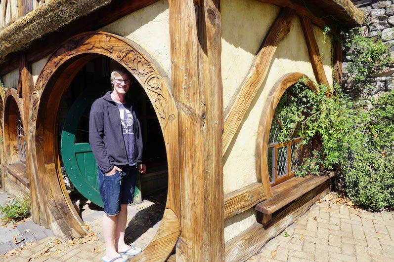Bernd ist zu groß für einen Hobbit, Visitor Information Matamata, Neuseeland | wat-erleben