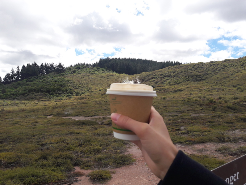 Der Kaffee bleibt warm, Craters of the Moon, Neuseeland | wat-erleben