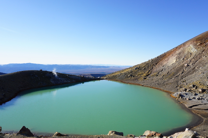 Einer der Emerald Lakes, Tongariro Alpine Crossing, Neuseeland | wat-erleben