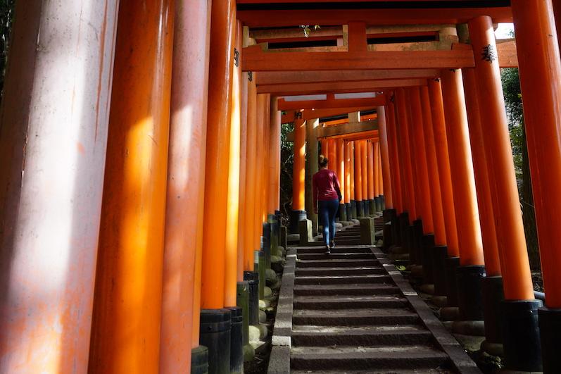Es wurde leerer, Fushimi-Schrein, Japan |wat-erleben