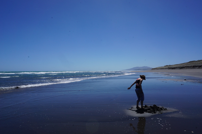 Ocean Beach, hier soll man sich im warmen Sand einbuddeln können. Er war lauwarm. | wat-erleben