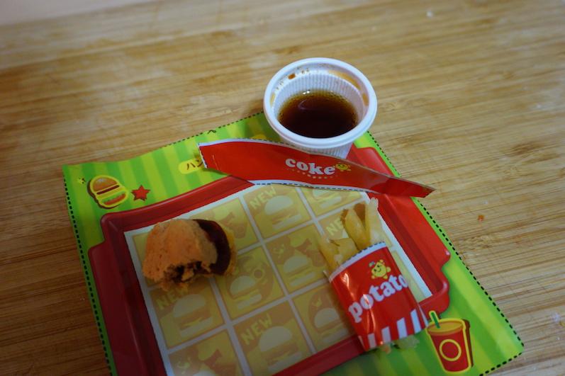 Sogar das Tablett konnte ausgeschnitten werden, Popin' Cookin', Tokio | wat-erleben