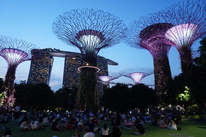 Gardens by the Bay, gleich geht die Show los, Singapur | wat-erleben