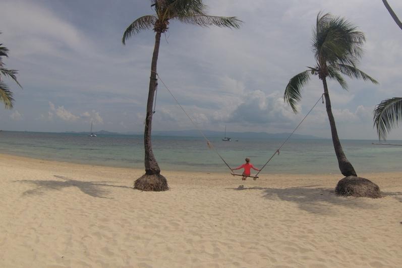 Auf der anderen Seite beim Leela Beach geht es entspannter zu, Koh Phangan | wat-erleben