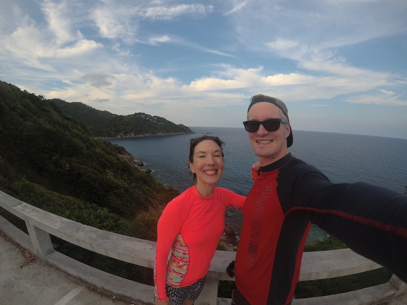 Nachdem wir gefühlte tausend Höhenmeter überwunden haben, wurden wir mit dieser Aussicht belohnt, Sai Daeng Beach | wat-erleben