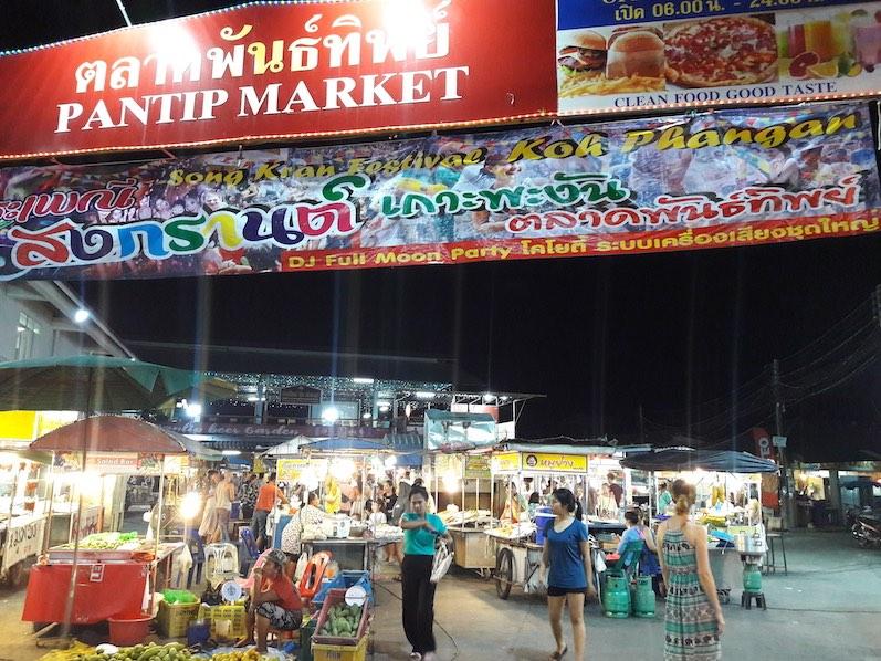 Nachtmarkt Thong Sala, wenn nicht gerade Songkran ist, Koh Phangan | wat-erleben
