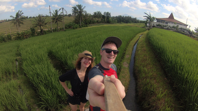 Reisfeldselfie, yihaaa, Canggu, Bali | wat-erleben