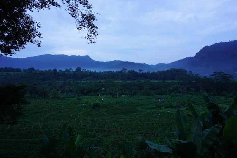 Der Blick über Sidemen am frühen Morgen, wie eine Fototapete und herrlich kühl; Bali | wat-erleben